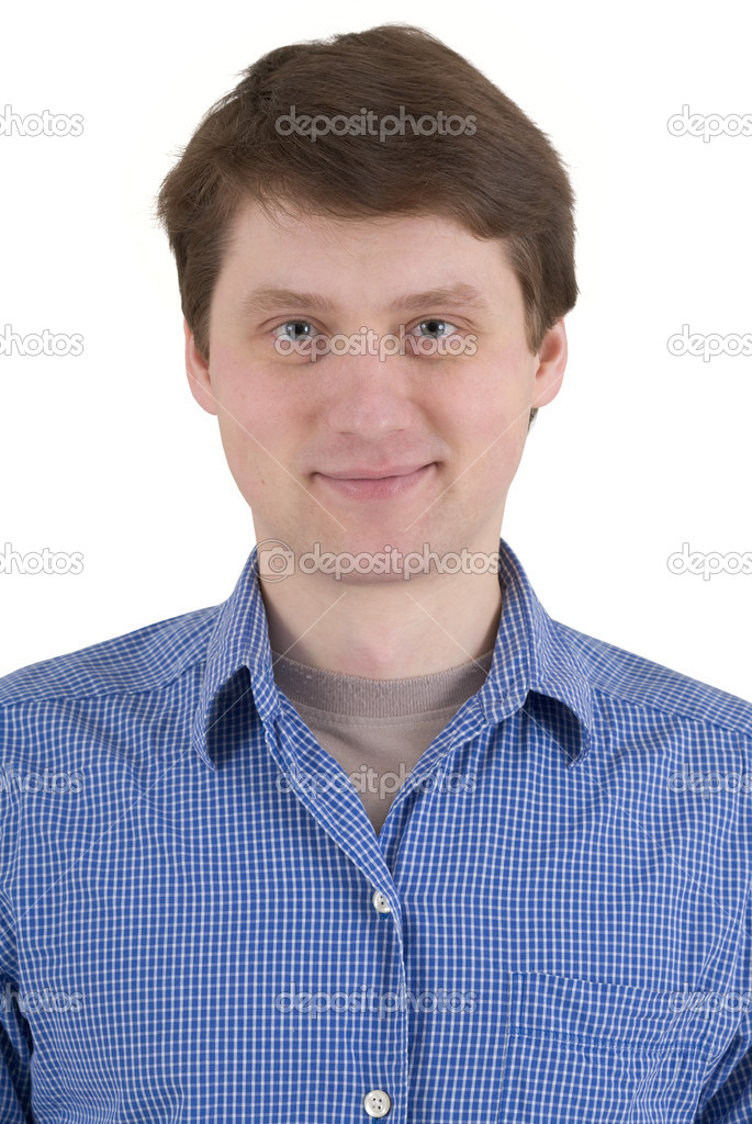 Portrait man smile a happy smile — Stock Photo #1022103