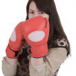 Royalty-Free Stock Photo: Girl in boxing-gloves