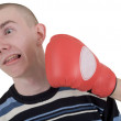 Man taking a punch — Stock Photo #1047279