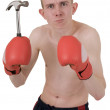 Royalty-Free Stock Photo: Boxer and hammer