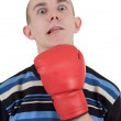 Man taking a punch — Stock Photo