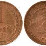 The Russian copper coin one copeck — Stock Photo #1047479