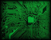 Technological industrial electronic gree — Stock Photo