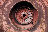 Old rusty turbine — Stock Photo