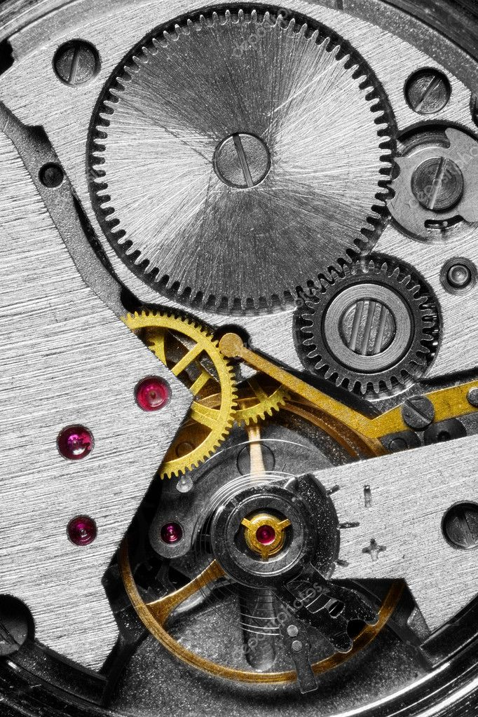 Photo of the mechanism of a watch  Stock Photo #1047315