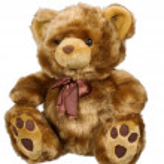 Toy bear on a white background — Stock Photo