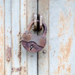 Rusty old padlock — Stock Photo