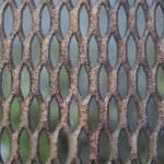 Metal old rusty lattice — Stock Photo