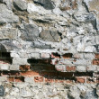 Decayed bricklaying — Stock Photo