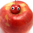 Sweet cherry & big red apple — Stock Photo