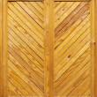 Yellow wooden door — Stock Photo