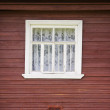 Window of rural house — Stock Photo