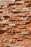 Red old brick wall structure — Stock Photo