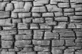 Charred cracked wood — Stock Photo