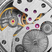 Metal clockwork (macro-photo) — Stock Photo