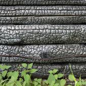 Black charred wall — Stock Photo