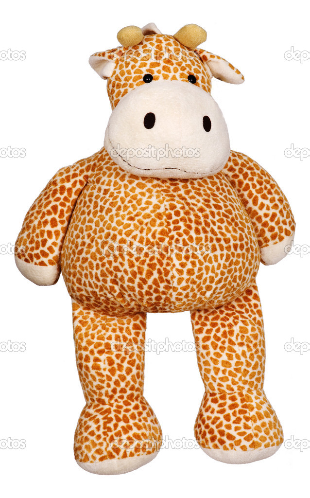 Toy giraffe on a white background — Stock Photo #1785902