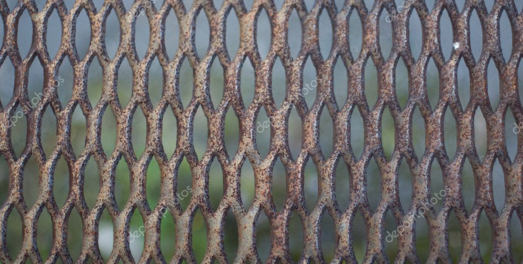 Metal old rusty lattice background — Stock Photo #1786587