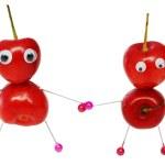 Funny sweet cherry — Stock Photo