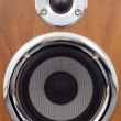 Royalty-Free Stock Photo: Speakers on a wooden surface
