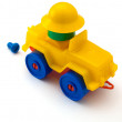 Yellow toy machine - Photo