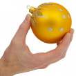 Cristmas-tree golden ball - Stock Photo