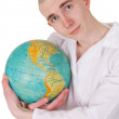 Man embracing the world - Stock Photo