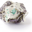 Crumpled dollar — Stock Photo