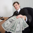 The artful businessman and money - Lizenzfreies Foto