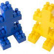 Figures made of the meccano — Stock Photo