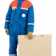 Stock Photo: Labourer with box