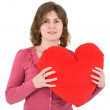 Woman and heart — Stock Photo #1798916
