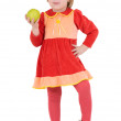 Royalty-Free Stock Photo: Little girl and apple