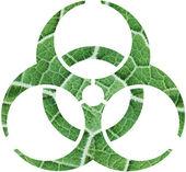 Gebladerte biohazard — Stockfoto