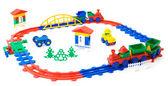 Toy railway — Stock Photo