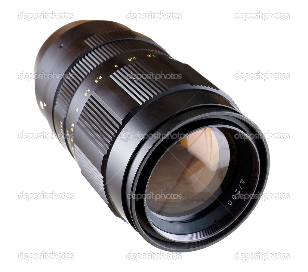 Black lens for camera on white background — Stock Photo #1793253