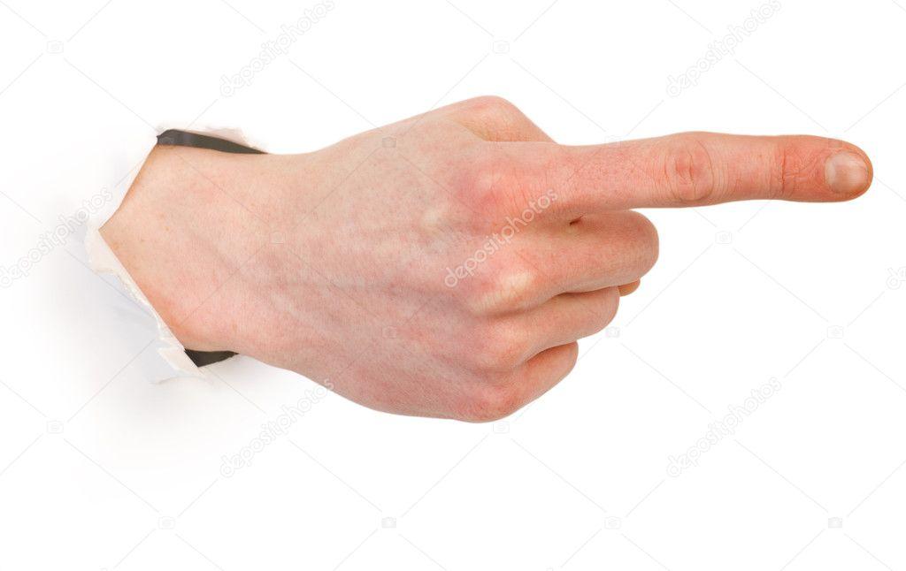 ruka-v-dirke