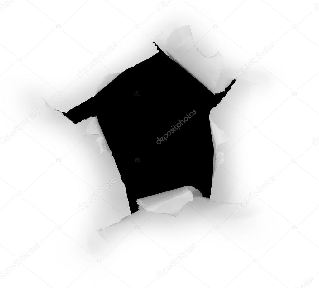 The black hole in white paper — Stock Photo #1795781