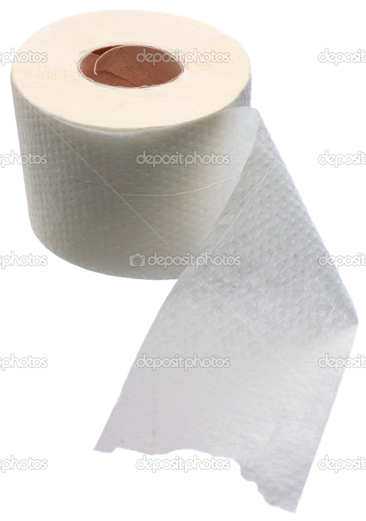 Roll of toilet paper on a white background — Stock Photo #1797048