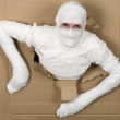 Man in costume mummy — Stock Photo