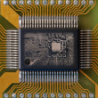 Integrated microcircuit — Stock Photo