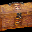 Wooden ancient chest - Stock Photo