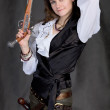 Girl - pirate with two pistols — Stock Photo #2262658