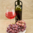 Still-life with a glass of red wine — Stock Photo