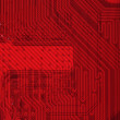 Industrial electronic red background — Stock Photo #2266411