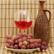 Bright still life with wine — Stock Photo