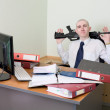 Self-satisfied worker of office armed — Stock Photo #2268161