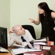 Stock Photo: Bookkeeper, secretary on a workplace