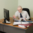 Bookkeeper on a workplace at office — Stock Photo #2269035