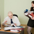 Bookkeeper and secretary on a workplace — Stock Photo #2269209